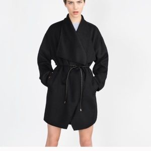 Zara Handmade Wool Wrap Coat